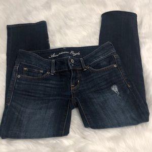 American eagle artist crop jeans size 0 regular